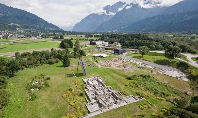 Der archäologische Park gilt als eines der Highlights von Aguntum.  Foto: Oberrainer.at