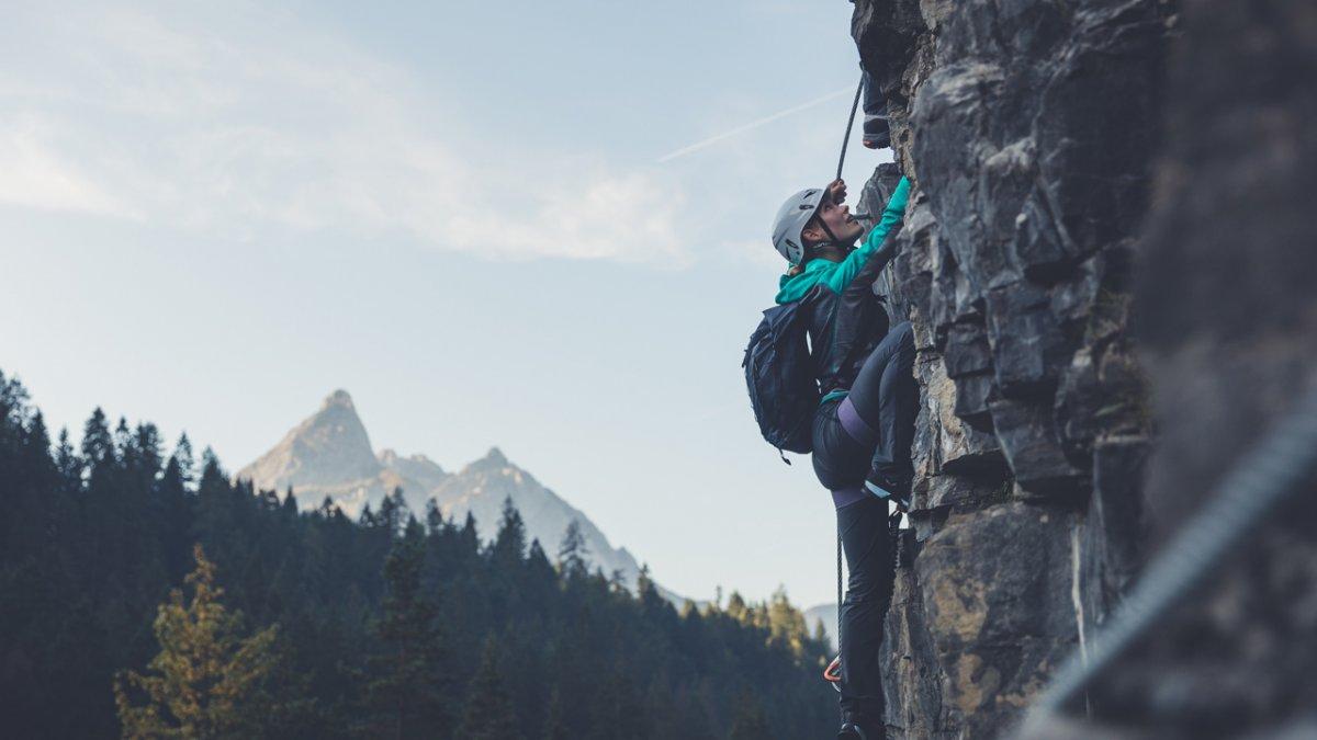 Klettern in der Tiroler Zugspitz Arena, © TZA/C. Jorda