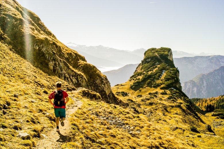 Trailrunning hoch über dem Achensee.