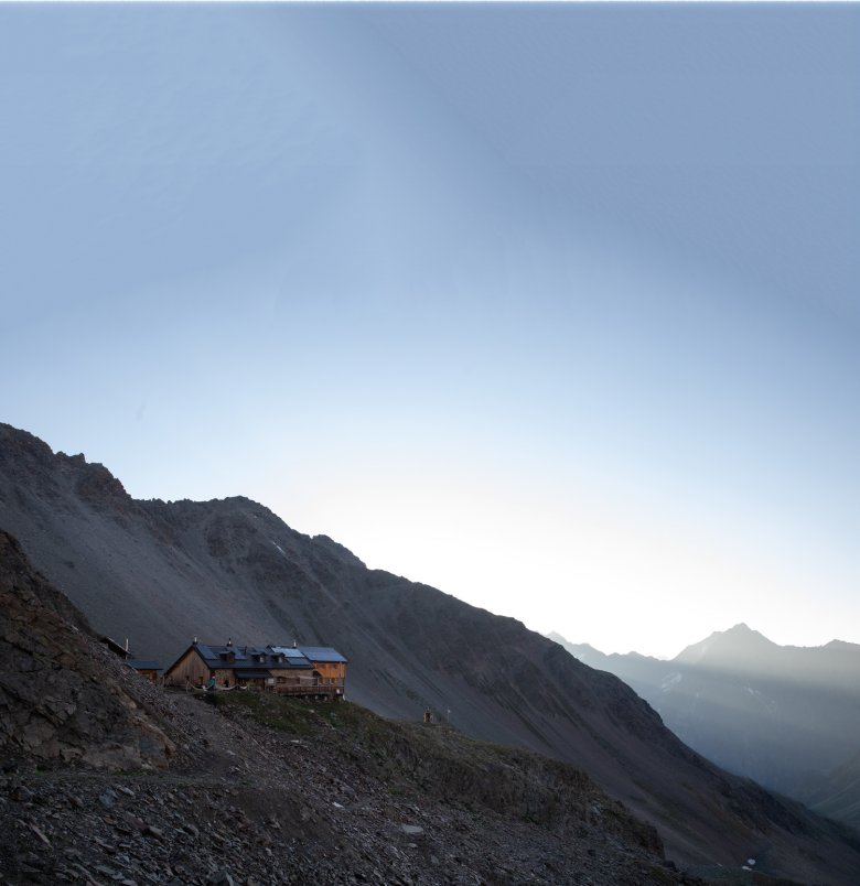Bergsteigerunterkunft mit bester Küche: die Kaunergrathütte auf 2.817 Metern Höhe.