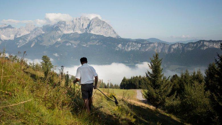 Cumuluswolken wie aus dem Bilderbuch am Wilden Kaiser. , © Monika Höfler