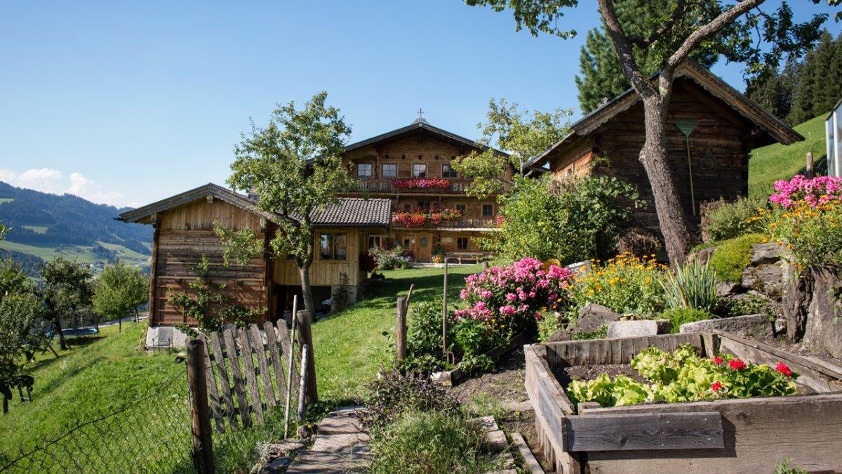 Obst und Gemüse gedeihen im Garten vor dem Haus prächtig., © Tirol Werbung/Lisa Hörterer