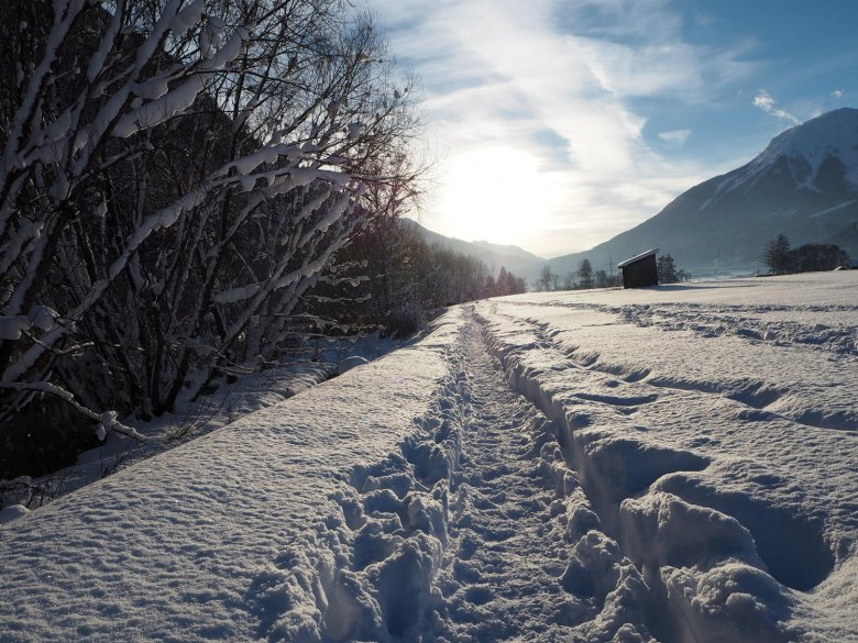 Winterwanderung im Gurgltal. Foto: Belinda Haidegger