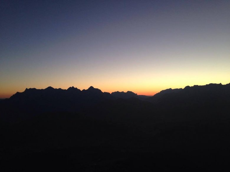 Blick vom Marokka-Gipfel auf die Loferer Steinberge