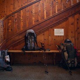 Vorraum der Berliner Hütte in den Zillertaler Alpen.
