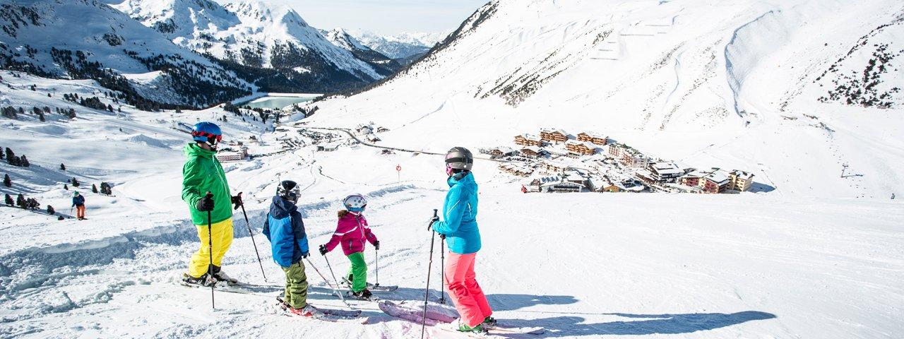 Skifahren mit Kindern im Skigebiet Kühtai, © Eye5 - Daniel Zangerl
