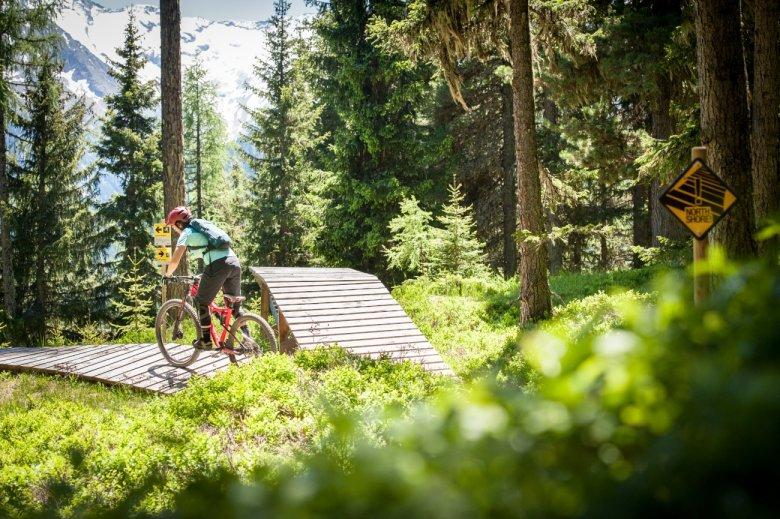 Die Qual der Wahl: Zurück zum Flow-Trail? Oder doch weiter zum Iss-Vertical?