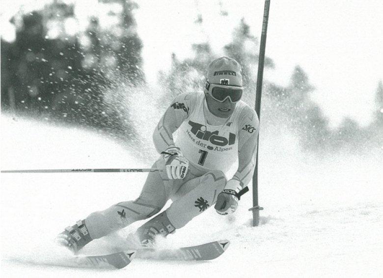 Günther Mader bei einem Slalom 1989