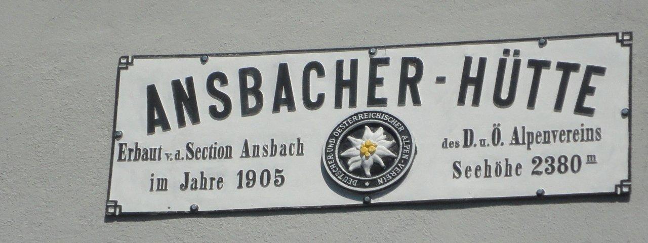 Ansbacher Hütte, © Tirol Werbung/Ines Mayerl