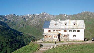 Die Rastkogelhütte ist das Ziel dieser Mountainbiketour.