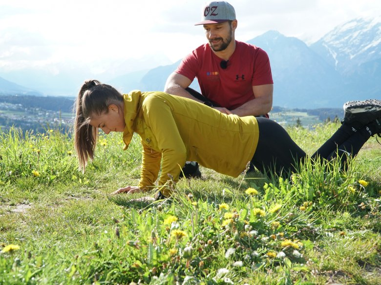 Anna undRoland beim trainieren.