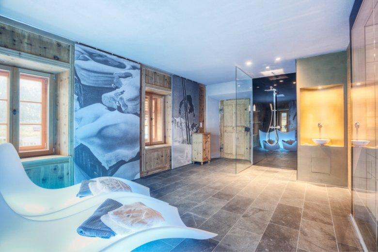 Dieser Wellnessbereich könnte genau so gut einem Designhotel gehören. (Alle Fotos: Alexander Mattersberger für Tassenbacherhof)