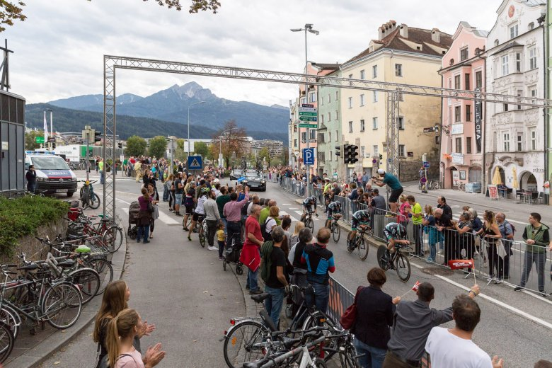 Das Ziel aller Rennen: Innsbruck, die Landeshauptstadt Tirols