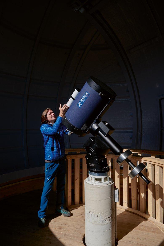 Dr. Norbert Span, ein Geophysiker und Meteorologe, bildet Interessierte zu Sternen-Guides aus.