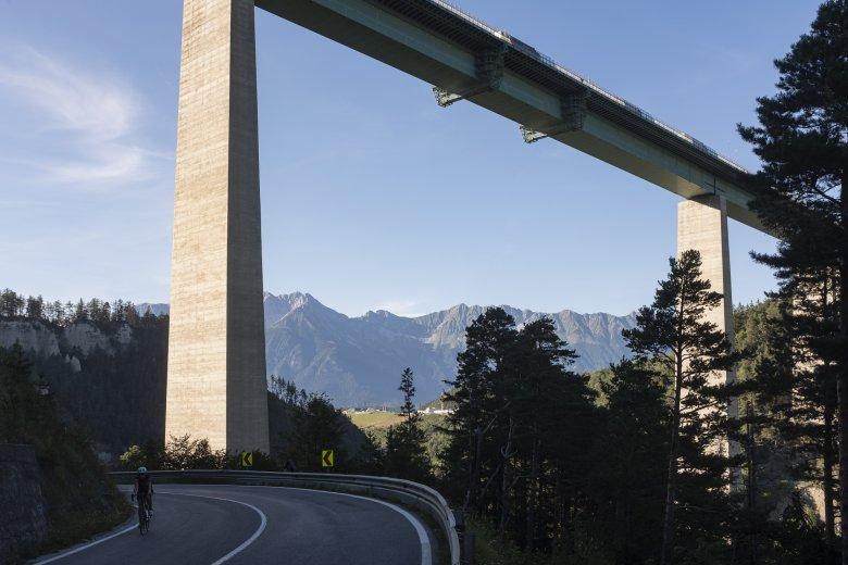 Die Europabrücke zwischen Patsch und Schönberg.