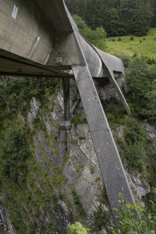 Die Rohrbrücke Großer Gröben in der Nähe von Pfafflar.