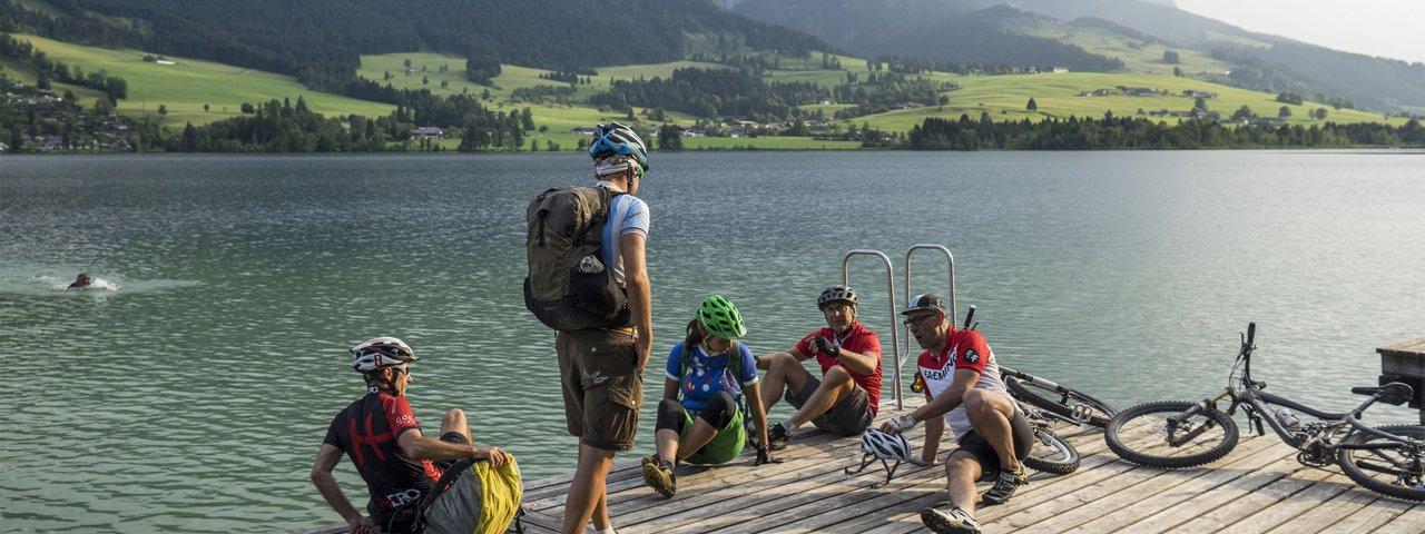 Abkühlung im Walchsee, © Tirol Werbung/Peter Neusser