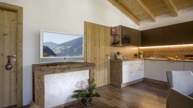 Wohnzimmer, Küche Aparthotel Gallahaus