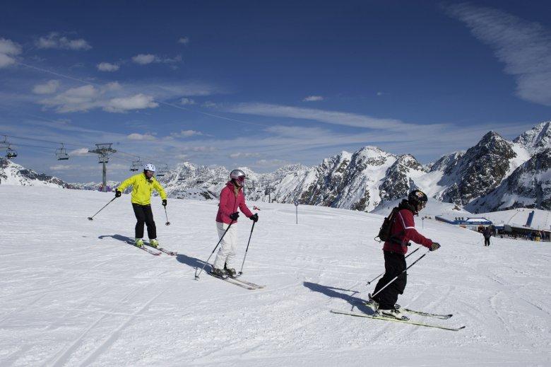 Ski fahren am Stubaier Gletscher