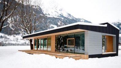 Modulhaus außen Winter