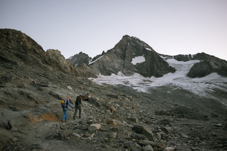 Aufbruch zum Gipfel des Großglockners, dem Arbeitsplatz von Matthias Wurzer.