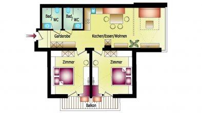 Top Level-Apartment-Zillertal-Aschau-Plan_Zwei