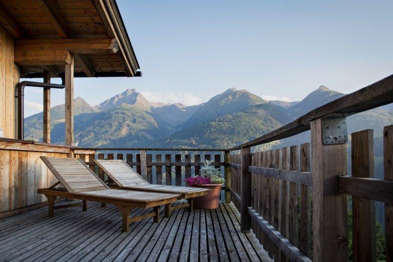 """""""Wellness"""" mit Ausblick am Bartlerhof in Osttirol."""