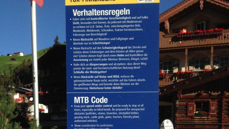 Verhaltensregeln beim Mountainbiken, © TVB Silberregion Karwendel