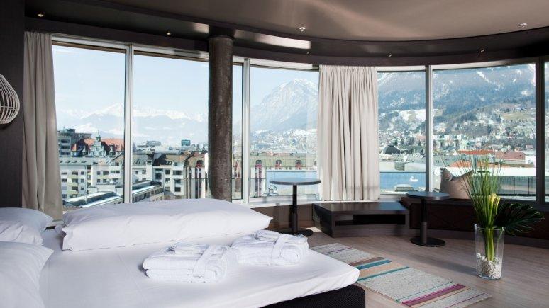Panoramasuite im Hotel aDLERS in Innsbruck, © Hotel aDLERS