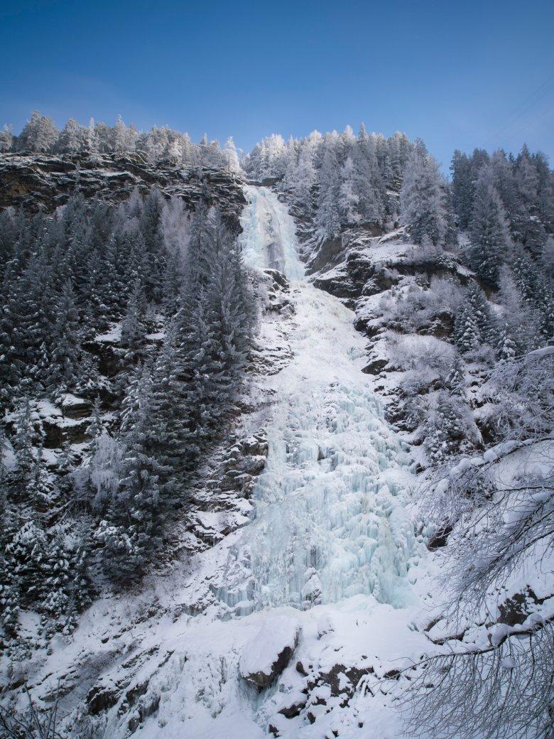 Mit einer Höhe von 159 Metern ist der Stuibenfall ist der höchste Wasserfall Tirols. Foto: Ötztal Tourismus / Werner Elmer