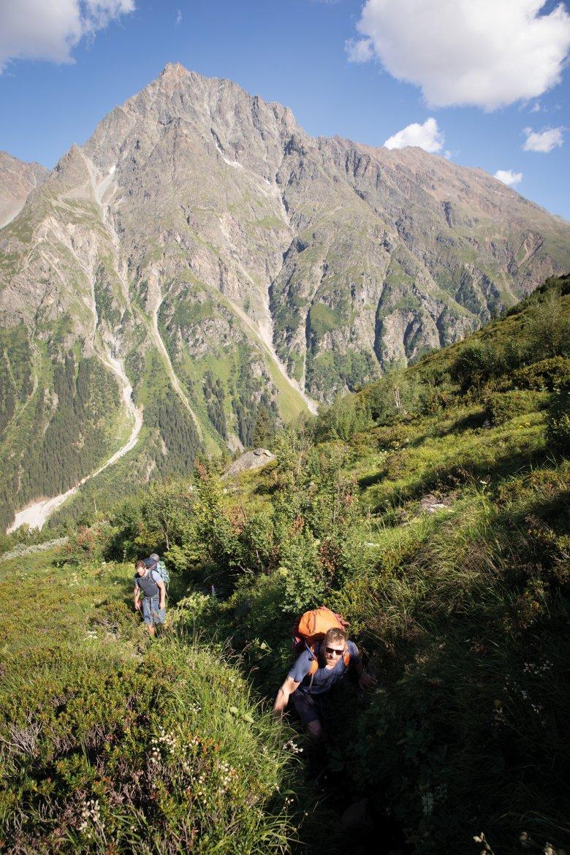 Auf dem Anstieg zur Kaunergrathütte geht es durch alle alpinen Vegetationszonen.
