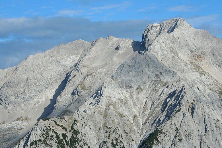 Eiskarlspitze und Spritzkarspitze. Beides ziemlich schroffe Genossen. Foto: Haneburger