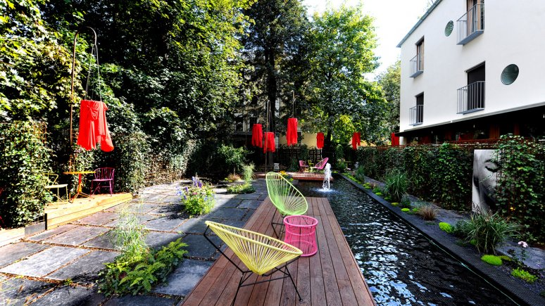 Aussenbereich des Nala Hotels in Innsbruck, © Nala Individuellhotel