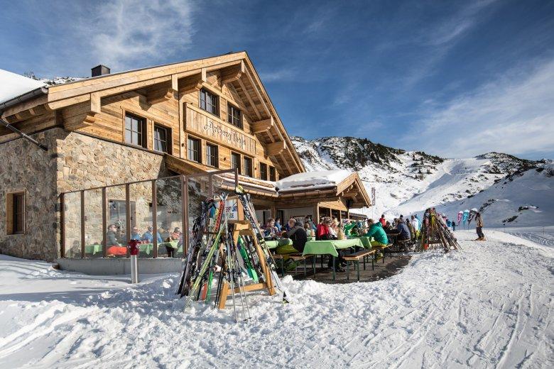Eine der besten Skihütten in St. Anton: die Arlberg Thaja, Foto: Arlberg Thaja