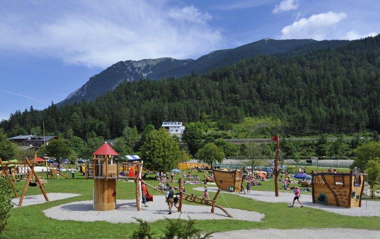 Achensee Spielplatz, Strandbad Achenkirch © Achensee Tourismus