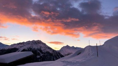 Sonnenuntergang auf der Gampe