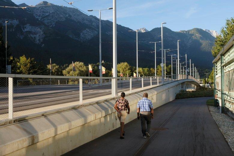 Die Grenobler Brücke in Innsbruck.