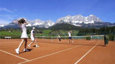 Tennis am Fuße des Wilden Kaisers