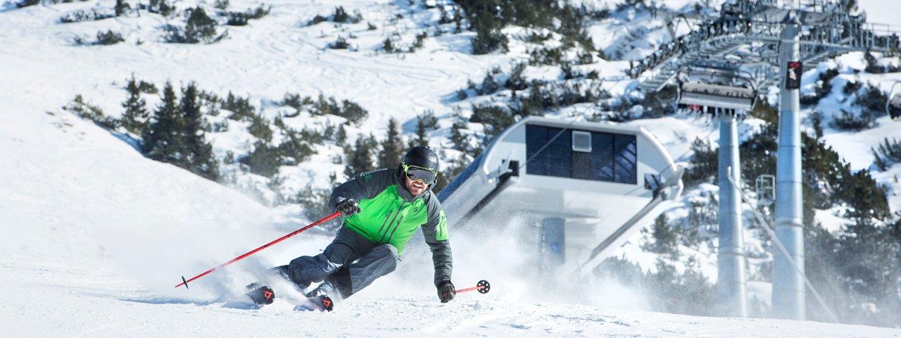 Skifahren in Seefeld in Tirol, © Olympiaregion Seefeld/Andre Schönherr