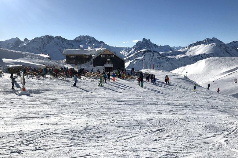 AV-Hütte im Skigebiet: die Ulmer Hütte, Foto: Rosanna Battisti