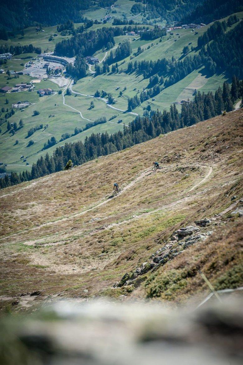 Hochalpiner Trail-Slalom.