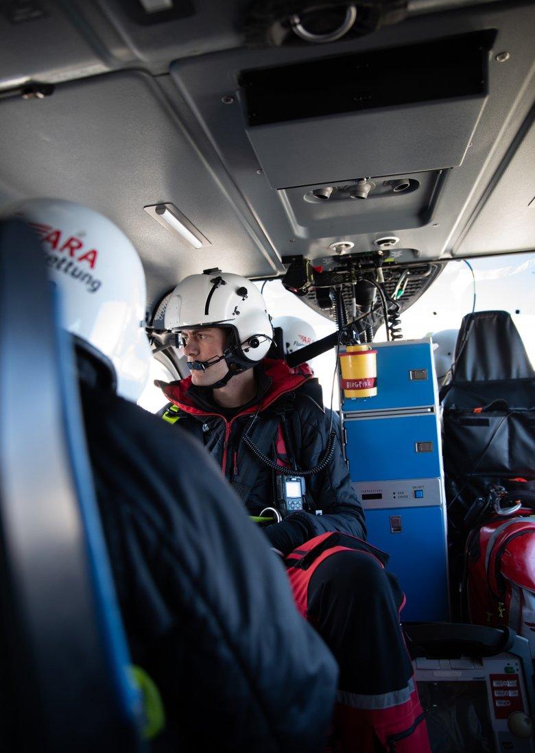 Florian Selb ist einer von 12 ehrenamtlichen Flugrettern in Reutte.