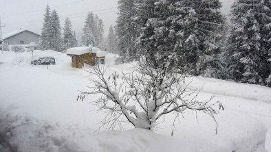 Winter vor unserem Haus