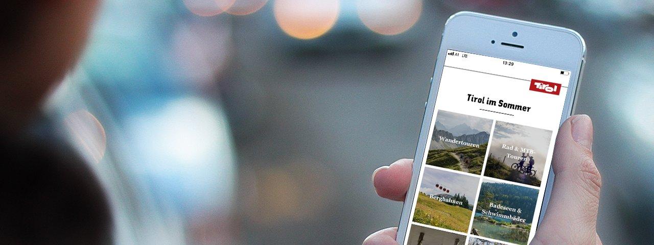 Tirol Reiseführer App, © Tirol Werbung