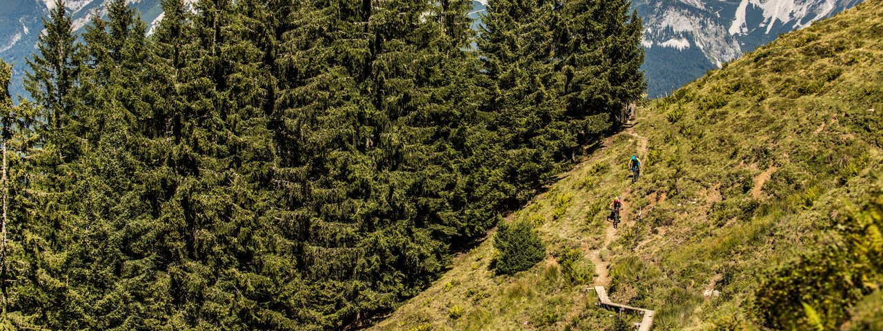 Trailbiken in den Kitzbüheler Alpen, Mountainbiken in Tirol, © Eye5/Carlos Blanchard