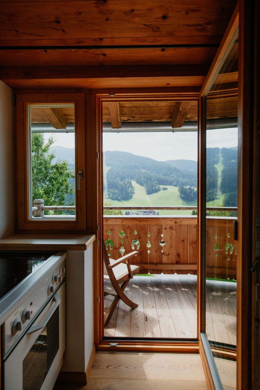 Blick vom Balkon aus einer der Ferienwohnungen