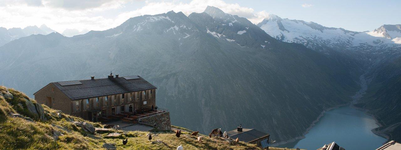 Olpererhütte im Zillertal, © Tirol Werbung/Jens Schwarz