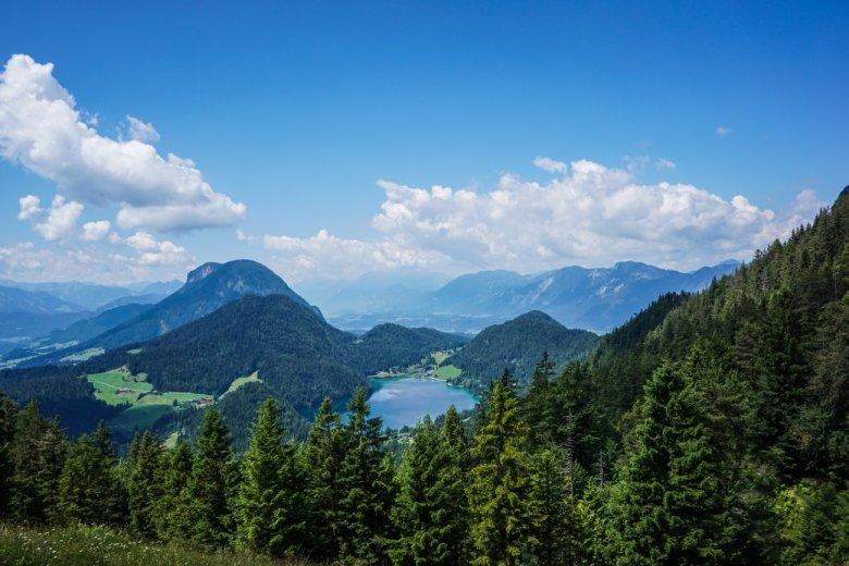 Etappe 1: Fabians Aussicht auf den Hintersteiner See.