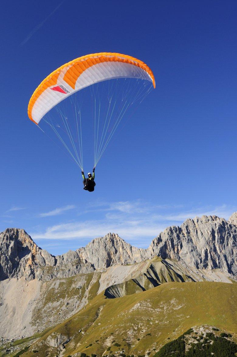 Aufsteigen, abheben, zur nächsten Hütte fliegen. , © Tirol Werbung