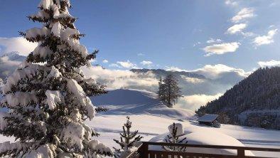 Winter Ausblick Terrasse